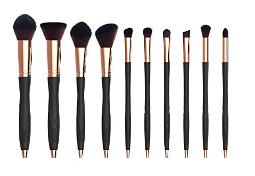 Makeup Brush Set,Professional 10 Pieces, Soft Toothbrush BB Cream Foundation Contour Powder Conceler Eyeliner Brush