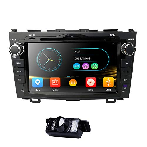 8 Inch for Honda CRV CR-V 2007 2008 2009 2010 2011 in Dash HD Touch Screen Car DVD Player GPS Navigation Stereo Bluetooth/SD/USB/RDS/FM/AM Radio/3G/AV-IN/1080P/Mirrorlink Map Reverse BackupCamera