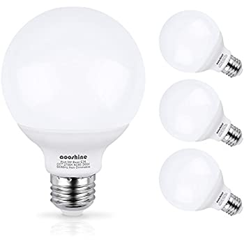 TCP RLGWKND Decorative Globe Vanity Light Bulbs Round G - What is the best wattage for bathroom lighting