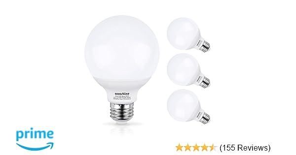 G25 Led Bulb Aooshine 50w Incandescent Bulb Equivalent Soft Warm White 2700k 5 Watts E26 Base Globe Vanity Makeup Mirror Lights Bulb