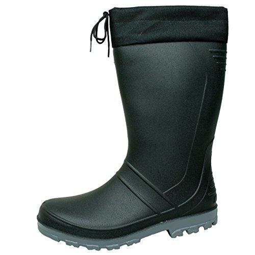 BOCKSTIEGEL® AXEL Hombres - Botas de goma de alta calidad (Tallas: 36-47) negro