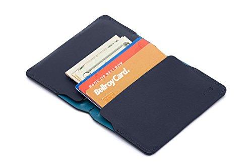 Hommes Pour Portefeuille Bellroy Card En Blue Holder Steel Cuir EqcWWAt