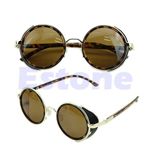 Estampado estilo 50s Red de de Leopardo vintage estilo sol retro Lamdoo vintage Gafas Gold estilo Steampunk estilo 6qwWzgP