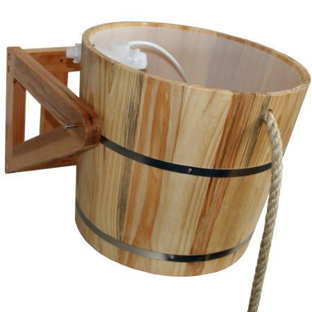 Sauna schwalldusche, holz eimer kübel dusche: amazon.de: garten