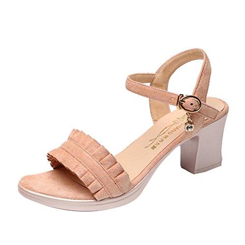 coreana Rosa Rosa moda long235mm alla 37 Single dimensioni con Shoes Colore sandali spiaggia selvaggia Scarpe Estate female da shoes ruvida 6qwfH7S