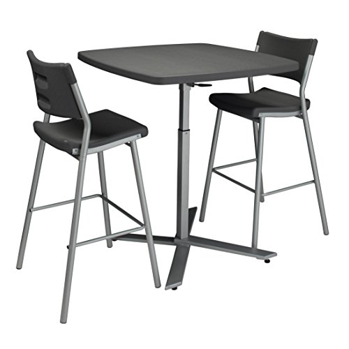 National Public Seating NPS Cafe Time Table and 4 Stools Set by National Public Seating