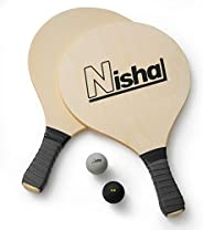 Paddle Ball Game - Smash Ball Set | Premium Set of 2 Smash Rackets, 2 Balls & Free Tennis Grips | Official