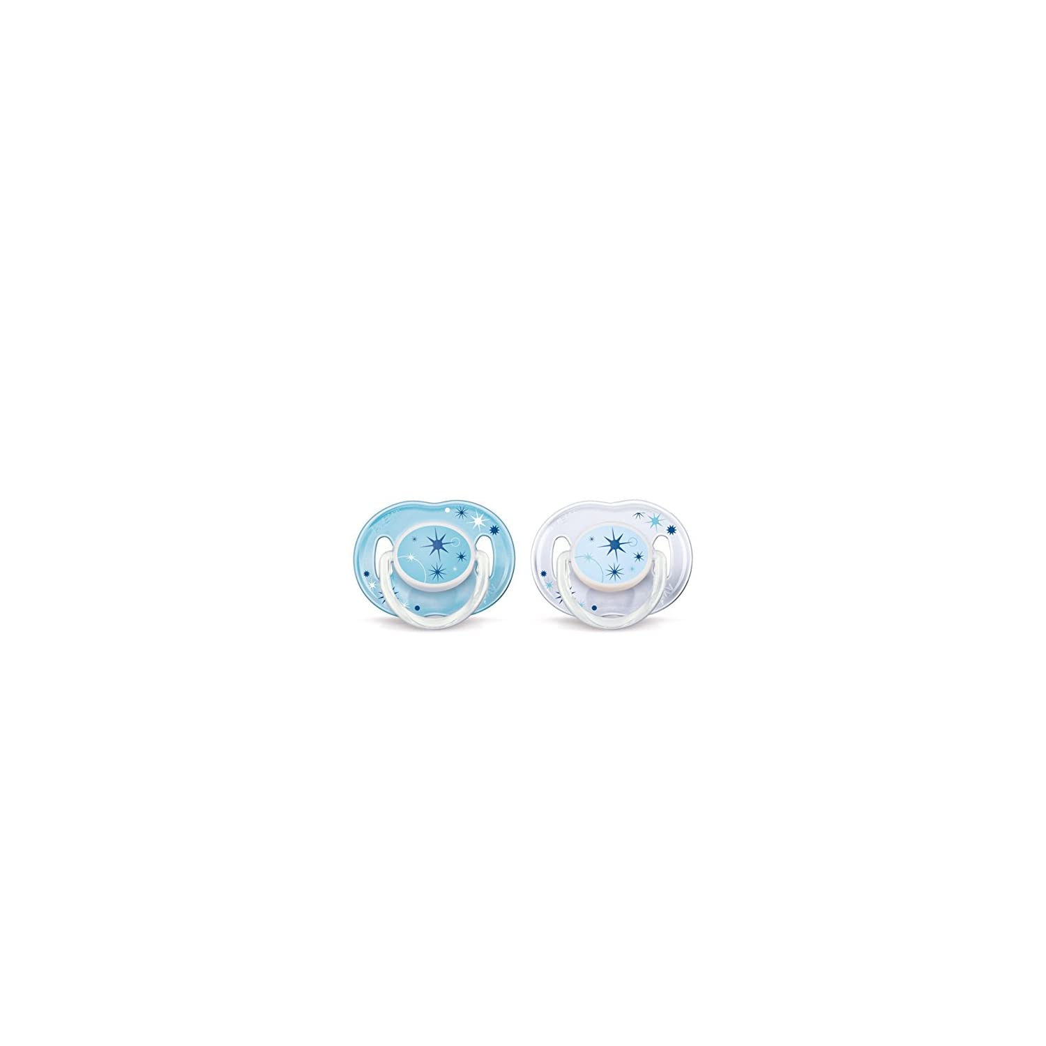 Philips AVENT BPA Free Nighttime Infant Pacifier, 0-6 Months, Colors May Vary, 2-Count
