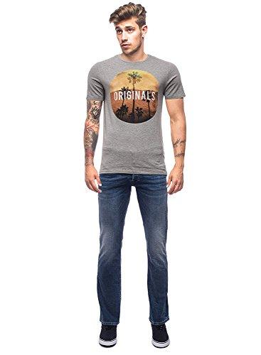 Jack & Jones Herren Oberteile / T-Shirt jorCreek grau M