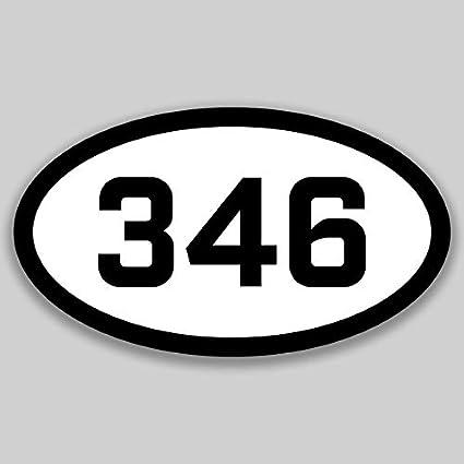 Amazon com: DHDM 346 Area Code Sticker Texas Houston Alvin