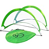 G3Elite 5 Footer Soccer Goal Pair with Carry Case, Pop Up Foldable Net Practice Set, Kids Adults Youth Team Training, High Quality (1 Year Warranty) (Lime Green)