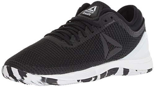 Reebok Women's CROSSFIT Nano 8.0 Flexweave Cross Trainer, Black/White/Twisted Pink, 8 M US