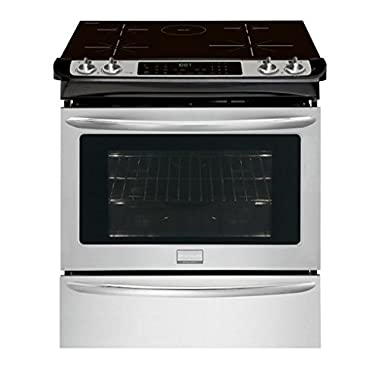 "Frigidaire FGIS3065PF 30"" Slide-In Electric Induction Range with True Convection Oven in Smudge-Proof Stainless Steel"