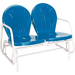 Jack Post BH-10BL Retro Glider, Blue by Jensen Distributing - Lawn & Garden