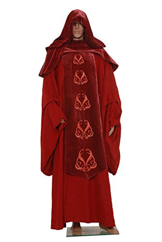 Wolfbar Darth Sidious Emperor Palpatine Hooded Robe Red Outfit Cosplay Costume XXX-Large -
