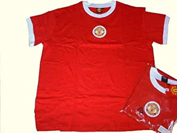 ae303b7a64e Manchester United Shirt Retro Shirts (xxl)  Amazon.co.uk  Sports ...