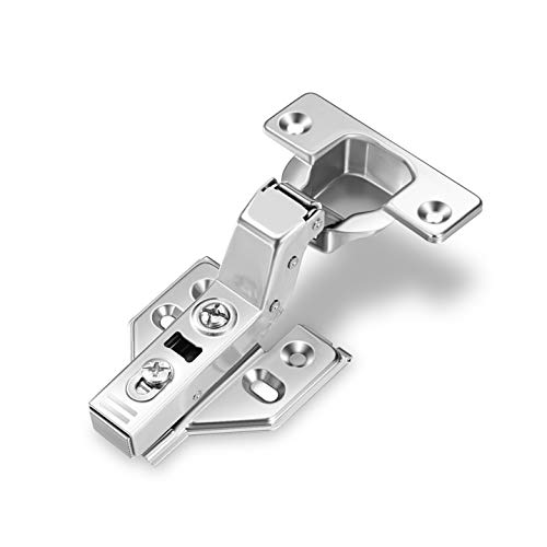 Inset Cabinet Doors - (40pcs) Luokim Frameless Cabinet Door Concealed Hinges,Soft-Close,European Inset,Nickel Plated,3D adjustments
