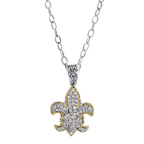 En argent sterling 18ct 180.45ct-Pendentif diamant brut-46cm