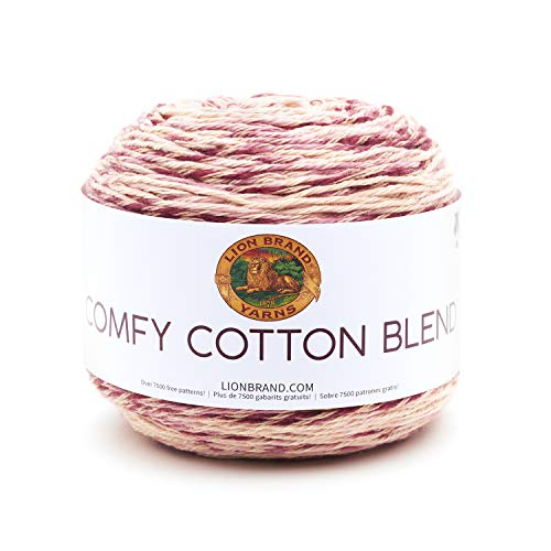 - Lion Brand Yarn 756-720 Comfy Cotton Blend Yarn, Lovie Dovie (1 skein/ball)