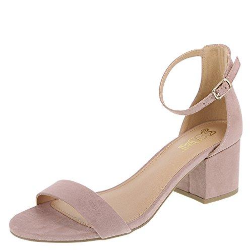 Blush Brash Naomi Naomi 8 Fabric Fabric 8 Womens Brash Wide Blush Block Block Womens Heel Heel qqPpt0