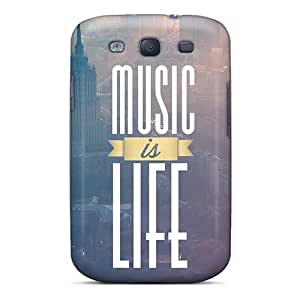 Excellent Galaxy S3 Case Tpu Cover Back Skin Protector Music Is Life