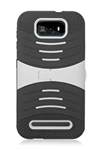 HHI Duo Sonar Armor Case with Stand for BLU Studio 5.5 - White/Black
