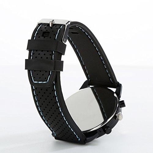 FinancePlan Men's Fashion Quartz Analog Watches, Silicone Rubber Band Stainless Steel Wrist Watch on Sale Clearance by FinancePlan (Image #2)