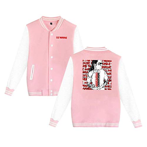 X Q X Baseball Uniform Jacket Sport Coat, Lil Dedication 4 Wayne Cotton Sweater for Women Men Boy Girls Pink]()