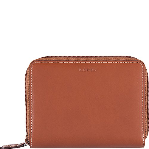 Icon Zip Around Wallet - Lodis Audrey RFID Laney Continental Double Zip Wallet (Sequoia/Papaya)