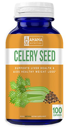 Ahana Nutrition Celery Seed Extract Capsules - Supports Liver Health and Circulatory System, Aids Healthy Weight Loss and Acts as an Anti-Inflammatory (500mg, 100 Capsules)