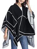 Women Poncho Shawl Cardigan Open Front Elegant Cape Wrap