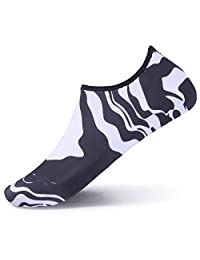 L-RUN Water Shoes for Women Men Little Kids Outdoor Lightweight Pool Beach Swim Surf Athletic Aqua Swim Socks
