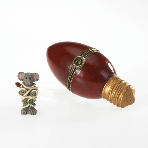 Boyds Bears Edison's Antique Christmas Light with Twinkles McNibble Hinged Box