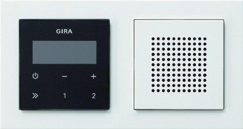 Gira 049572 Unterputz Radio RDS mit E2 Rahmen Gira E2, weiß / reinweiß