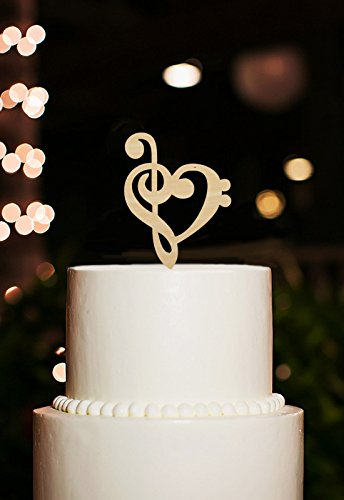 music note wedding cake toppers rustic bridal shower cake toppers