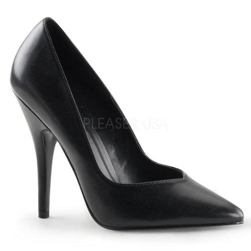 - Pleaser Women's 5 Inch Heel Pump (Black PU;12)