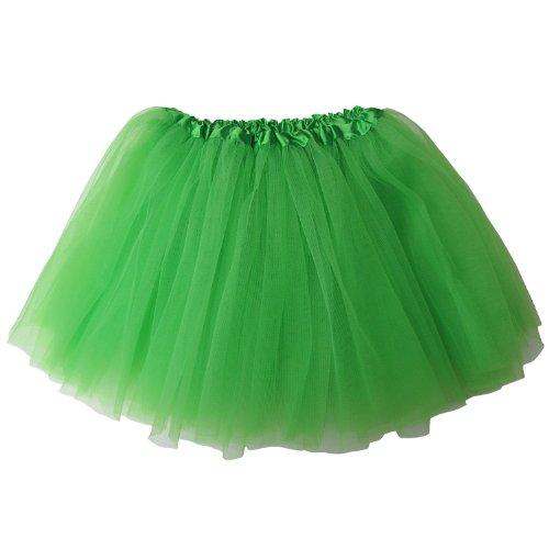 So Sydney Ballerina Basic Girls Ballet Dance Dress-Up Princess Fairy Costume Dance Recital Tutu (Lime Green)
