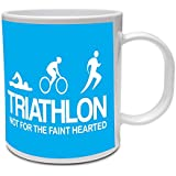 TRIATHLON NOT FOR THE FAINT HEARTED - Triathlete / Swim / Bike / Run / Fun / Gift Idea Ceramic Mug by The Classic Image Company