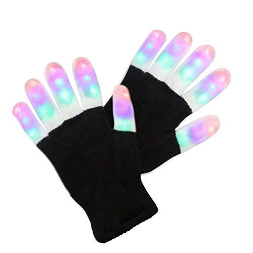 LED Lighting Gloves FYHAP Finger Lights Toys with Lights 3 Colorful 6 Modes Rave Gloves For Party