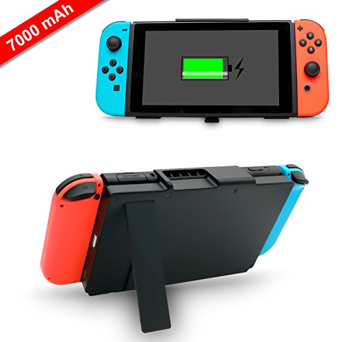 Battery Charger Case for Nintendo Switch,7000mAh Portable Battery Backup Power Bank for Nintendo Switch with Kickstand by FYOUNG