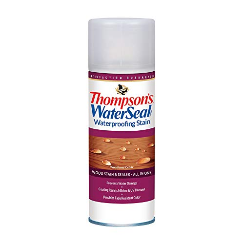 Thompson's Water Seal TH.012551-18 Waterproofing Stain - Aerosol, Woodland Cedar - 11.75 ounce