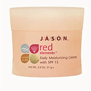 JASON Natural Cosmetics Red Elements Daily Moisturizing creme with SPF 15, Fragrance Free,2 Ounces
