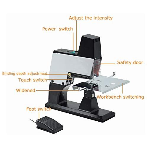 110v Electric Saddle Stapler Auto Rapid Stapler Flat+Saddle Binder Machine Book Binding Machine by Techtonda (Image #3)
