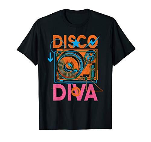 Disco Diva T-Shirt 60s 70s 80s Costume Party Shirt Gift