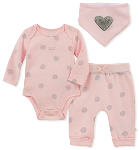 absorba Baby Girls 2 Pieces Creeper Pants Set, Pink/Silver, 3-6 Months ()
