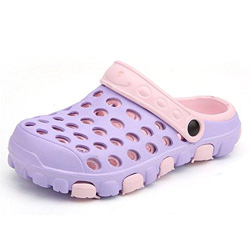 40 da caviglie da sandali Scarpe Ciabatte e e uomo piatte shoes da uomo su piatto Dimensione donna Color impermeabili Blu Purple da spiaggia Ciabatte con Jiuyue tacco EU 4OqXa
