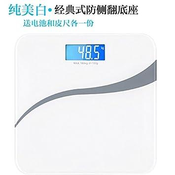 ZhangTianShi Báscula de baño Escalas de peso saludable Escalas electrónicas Inicio Cuerpo humano Escalas de medición de salud inteligentes precisas, ...