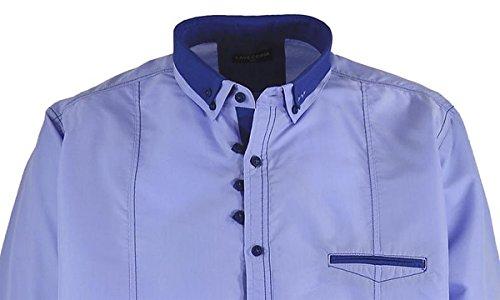 Langarmhemd in hellblau / Lavecchia bis Größe 7XL, Größe:7XL