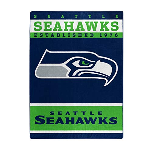 The Northwest Company Officially Licensed NFL Seattle Seahawks 12th Man Plush Raschel Throw Blanket, 60' x 80'