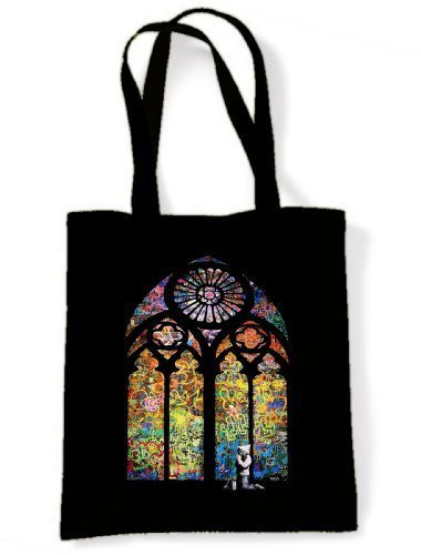 Glass Shoulder Banksy Bag Stained Stained Banksy Tote SwOttqzg